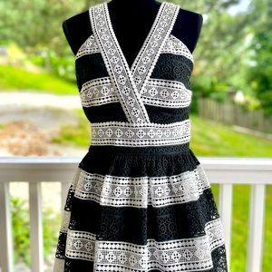 NWOT Kate Spade Lace Crochet Fit and Flare Dress